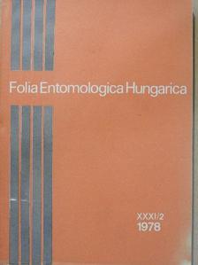 Endrődi S. - Folia Entomologica Hungarica 1978. [antikvár]