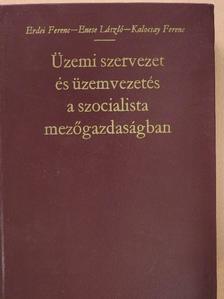 Enese László - Üzemi szervezet és üzemvezetés a szocialista mezőgazdaságban [antikvár]