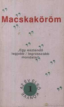 ZÖLDI LÁSZLÓ - Macsaköröm [antikvár]