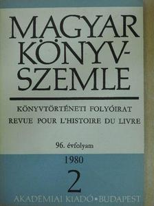 Benda Kálmán - Magyar Könyvszemle 1980/2. [antikvár]