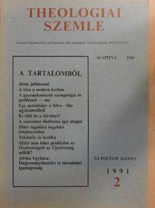 Bartha Tibor - Theologiai Szemle 1991/2. [antikvár]