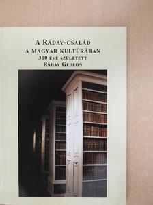 Borbély Szilárd - A Ráday-család a Magyar Kultúrában [antikvár]