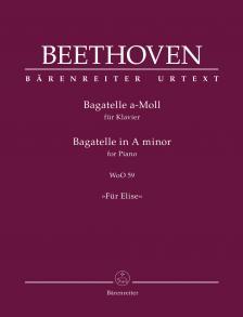 "BEETHOVEN - BAGATELLE a-MOLL ""FÜR ELISE"" FÜR KLAVIER WoO 59"