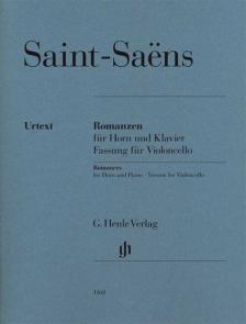 SAINT -SAENS - ROMANZEN FÜR HORN UND KLAVIER FASSUNG FÜR VIOLONCELLO (D. RAHMER, K. SCHILDE, C. KANNGIESSER)
