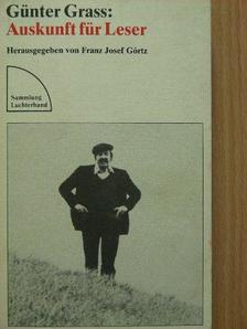 Günter Grass - Auskunft für Leser [antikvár]