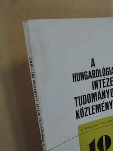Angyal Endre - A Hungarológiai Intézet tudományos közleményei 1972. március [antikvár]