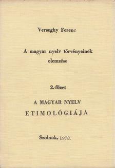 Verseghy Ferenc - A magyar nyelv törvényeinek elemzése 2. füzet [antikvár]