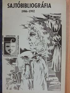 Dévényi Róbert - Sajtóbibliográfia 1986-1992 [antikvár]