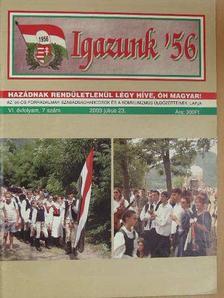 Bodri István - Igazunk '56 2002-2004. (vegyes számok) (9 db) [antikvár]