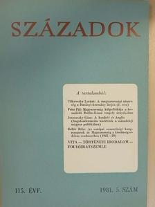 Bellér Béla - Századok 1981/5. [antikvár]