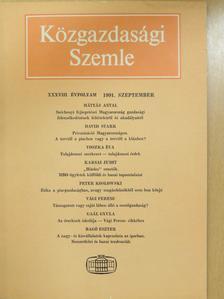 Bagó Eszter - Közgazdasági Szemle 1991. szeptember [antikvár]