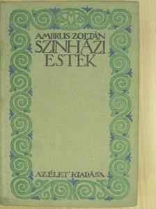 Ambrus Zoltán - Színházi Esték [antikvár]