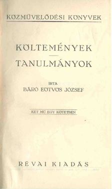 Eötvös József - Költemények, tanulmányok [antikvár]