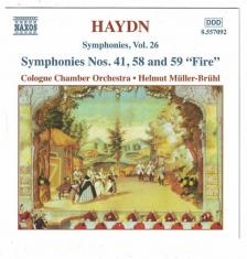 """Haydn - SYMPHONIES NOS.41,58 AND 59""""FIRE"""" CD MÜLLER-BRÜHL, COLOGNE CHAMBER ORCH."""