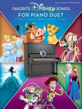 FAVORITE DISNEY SONGS FOR PIANO DUET. EARLY INTERMEDIATE