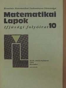 Bitay László - Matematikai Lapok 1994. december [antikvár]