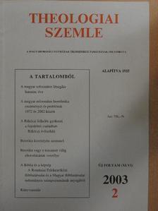 Ágoston István György - Theologiai Szemle 2003/2. [antikvár]