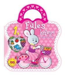 Füles kifestő matricákkal - 1. Bicikli