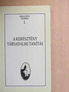 Bittsánszky Géza - A keresztény társadalmi tanítás [antikvár]