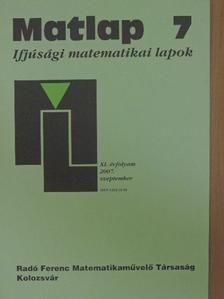 Bitay László - Matlap 2007. szeptember [antikvár]
