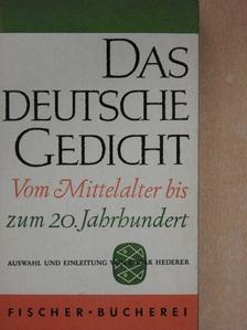 Clemens Brentano - Das deutsche Gedicht vom Mittelalter bis zum 20. Jahrhundert [antikvár]