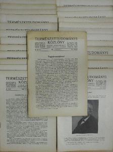 Abonyi S. - Természettudományi Közlöny 1928. január-december/Pótfüzetek a Természettudományi Közlönyhöz 1928. január-december [antikvár]