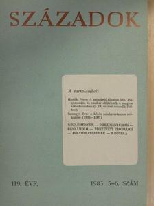 Balázs Sándor - Századok 1985/5-6. [antikvár]