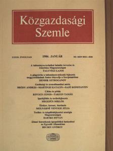 Bartke István - Közgazdasági Szemle 1986. január [antikvár]