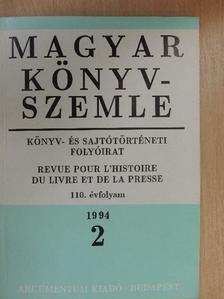 Bogoly József Ágoston - Magyar Könyvszemle 1994/2. [antikvár]