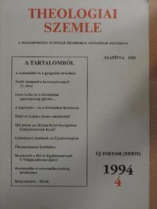 Bányai János - Theologiai Szemle 1994/4. [antikvár]