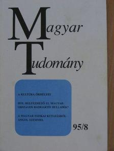 Bárdossy György - Magyar Tudomány 1995. augusztus [antikvár]