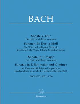 J. S. Bach - SONATE C-DUR FÜR FLÖTE UND BASSO CONTINUO BWV 1033 URTEXT (A.DÜRR)