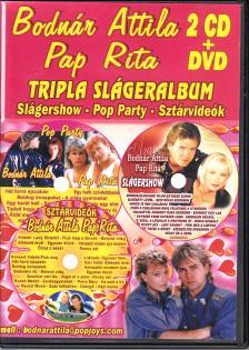 BODNÁR ATTILA & PAP RITA - TRIPLA SLÁGERALBUM 2CD+DVD BODNÁR ATTILA & PAP RITA