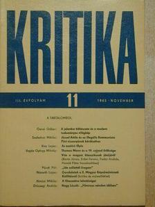 Almási Miklós - Kritika 1965. november [antikvár]
