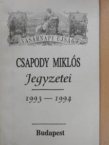 Csapody Miklós - Csapody Miklós Jegyzetei (dedikált példány) [antikvár]