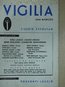 Bartalis János - Vigilia 1944. március [antikvár]