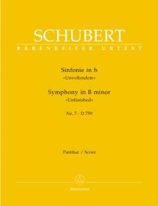 """Franz Schubert - SINFONIE IN h """"UNVOLLENDETE"""" NR.7 D 759 PARTITUR URTEXT (W.ADERHOLD)"""