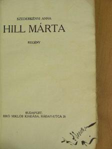 Szederkényi Anna - Hill Márta [antikvár]