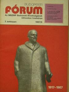 Aczél Kovách Tamás - Budapesti fórum 1987/5. [antikvár]