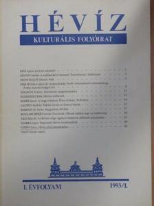 Boglári Békés István - Hévíz 1993/1. [antikvár]