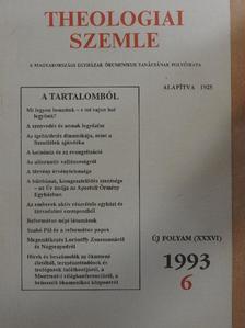 Ágoston István - Theologiai Szemle 1993/6. [antikvár]