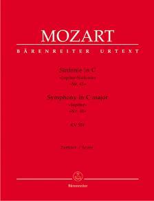"""MOZART, W,A, - SINFONIE IN C """"JUPITER-SINFONIE"""" NR.41 KV 551 PARTITUR URTEXT (H. C. ROBBINS LANDON)"""