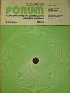 Aczél Kovách Tamás - Budapesti Fórum 1988/3. [antikvár]
