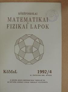 Dr. Selényi Pál - Középiskolai matematikai és fizikai lapok 1992. április [antikvár]