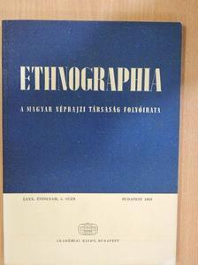 Czeglédy János - Ethnographia 1969/4. [antikvár]