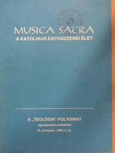 Buxbaum Miklós - Musica Sacra - A katolikus egyházzenei élet 1989. november [antikvár]