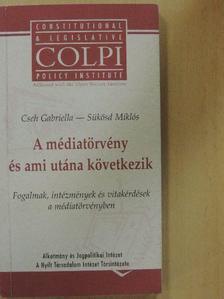 Cseh Gabriella - A médiatörvény és ami utána következik [antikvár]