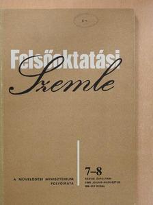 Dr. Bóra Ferenc - Felsőoktatási Szemle 1989. július-augusztus [antikvár]