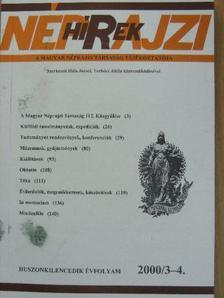 B. Kovács István - Néprajzi Hírek 2000/3-4. [antikvár]
