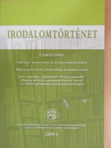 Buda Attila - Irodalomtörténet 2009/4. [antikvár]